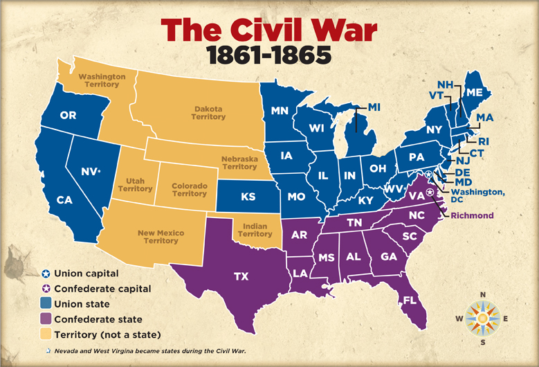 Civil War Battles ThingLink - Us map of civil war battles