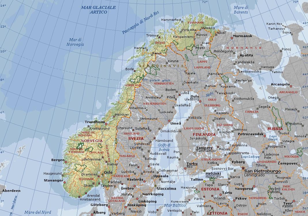 La Norvegia Cartina.Oslo E La Capitale Della Norvegia Visitata Da Molti Turst