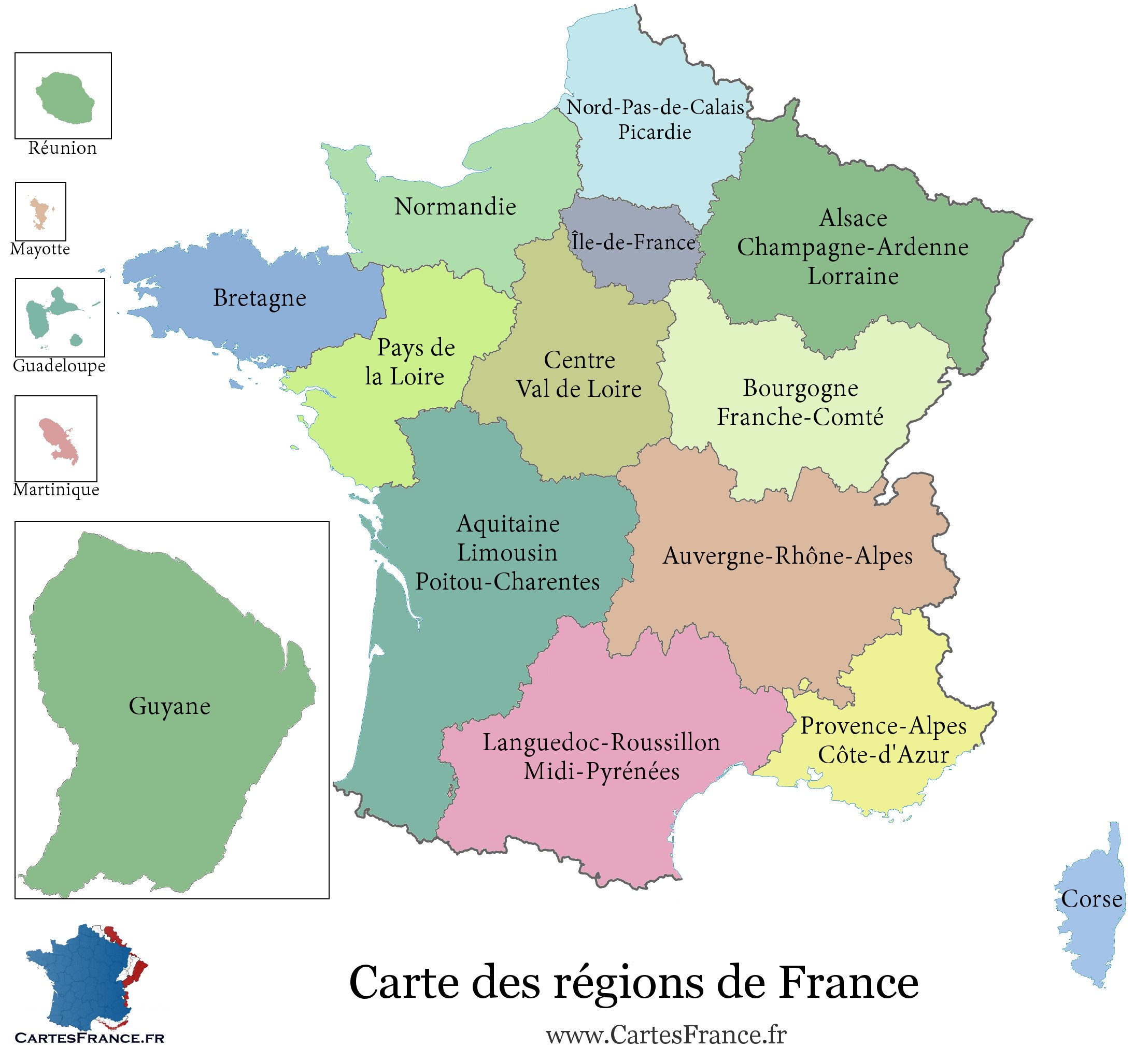 carte de france des regions carte des régions de france