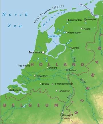 Cartina Olanda Fisica.Amsterdam E La Capitale Dei Paesi Bassi Inoltre Possiede