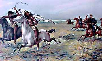 White settlers forcing Native Americans to move - ThingLink