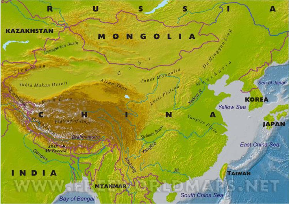 Interactive Map Of China