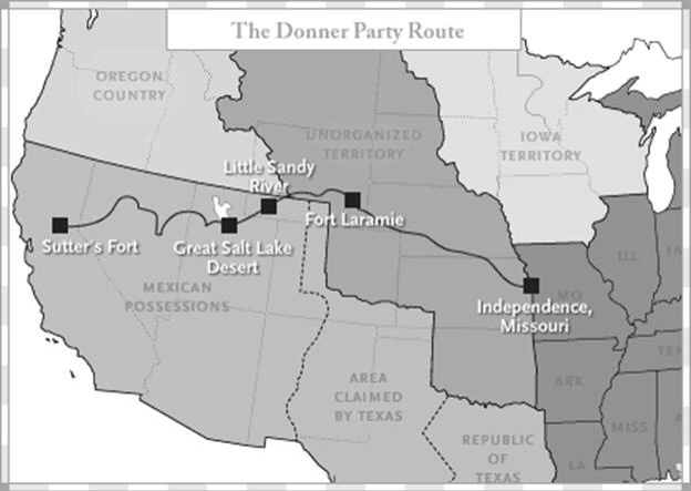 Donner Party interactive map on