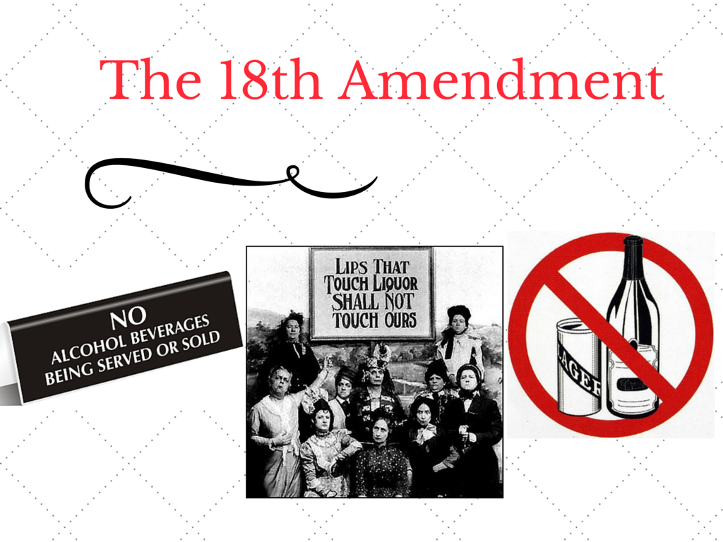 the 18th amendment and its connection Repeal of the eighteenth amendment twenty-first amendment section 1 any connection between such restriction and public health, safety or.