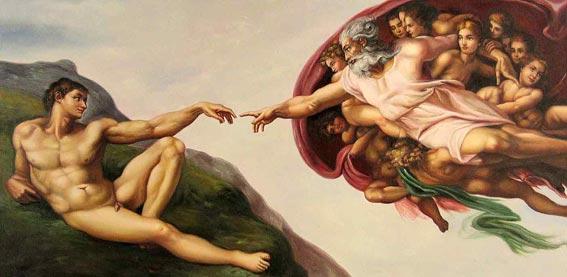 The Creation Of Adam Michelangelo