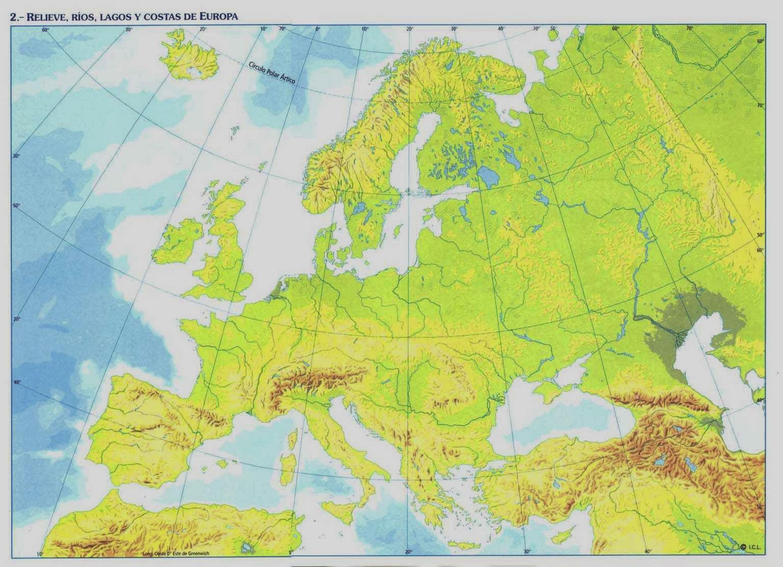 Mapa fsico de Europa  ThingLink