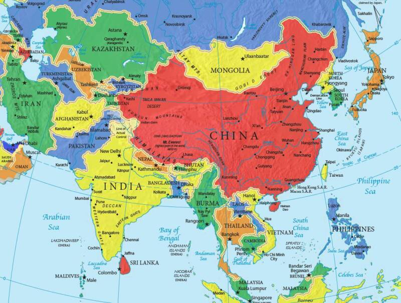 Www Map Of Asia.Map Of Asia