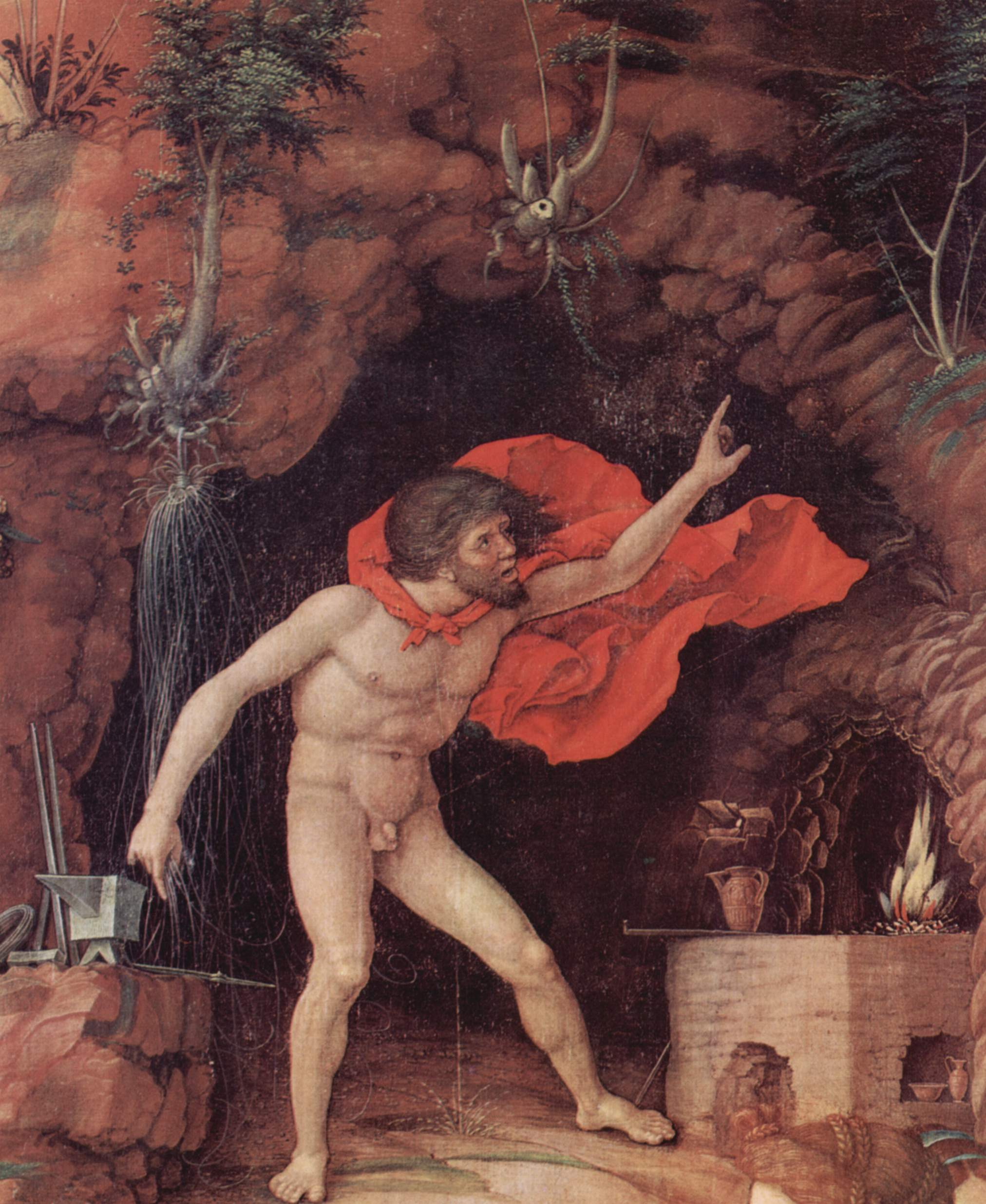 hephaestus vulcan god of blacksmiths fire and volcanoes thinglink