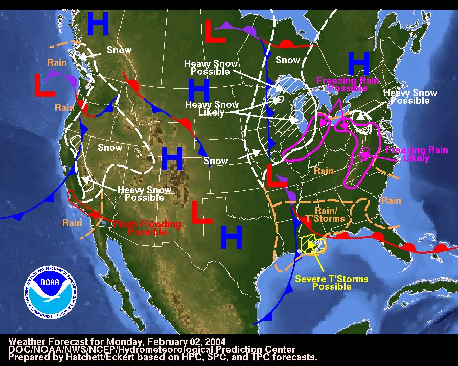 Weather Map Project Mr Longorias Earth Science US Weather Map By