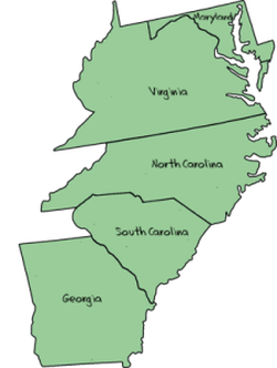 southern colonies were known for farming while in the new
