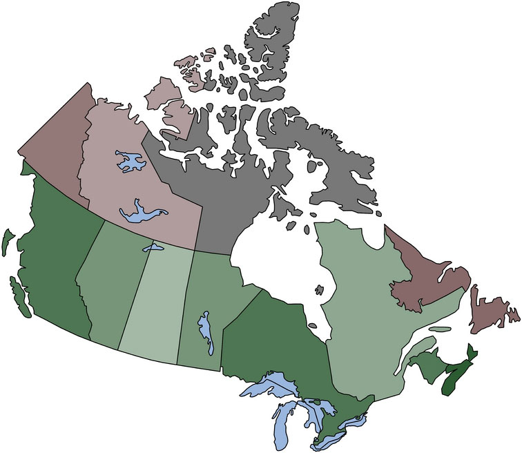 Easy Map Of Canada.Remix Of Physical Map Of Canada