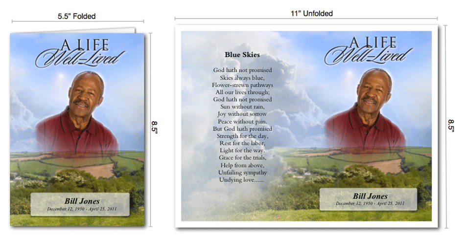 zachary douglass llc funeral programs templates