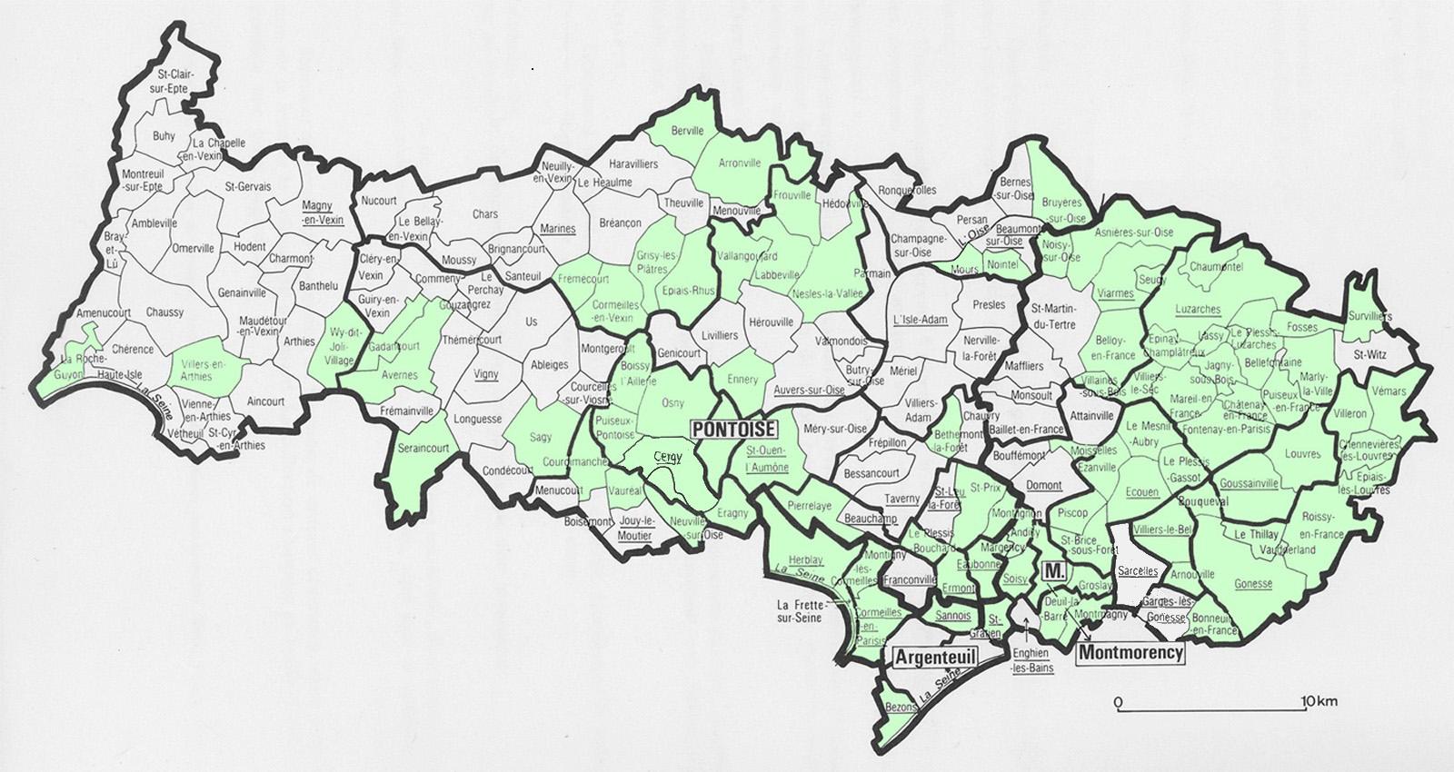 carte val d oise Le Tourisme dans le Val d'Oise
