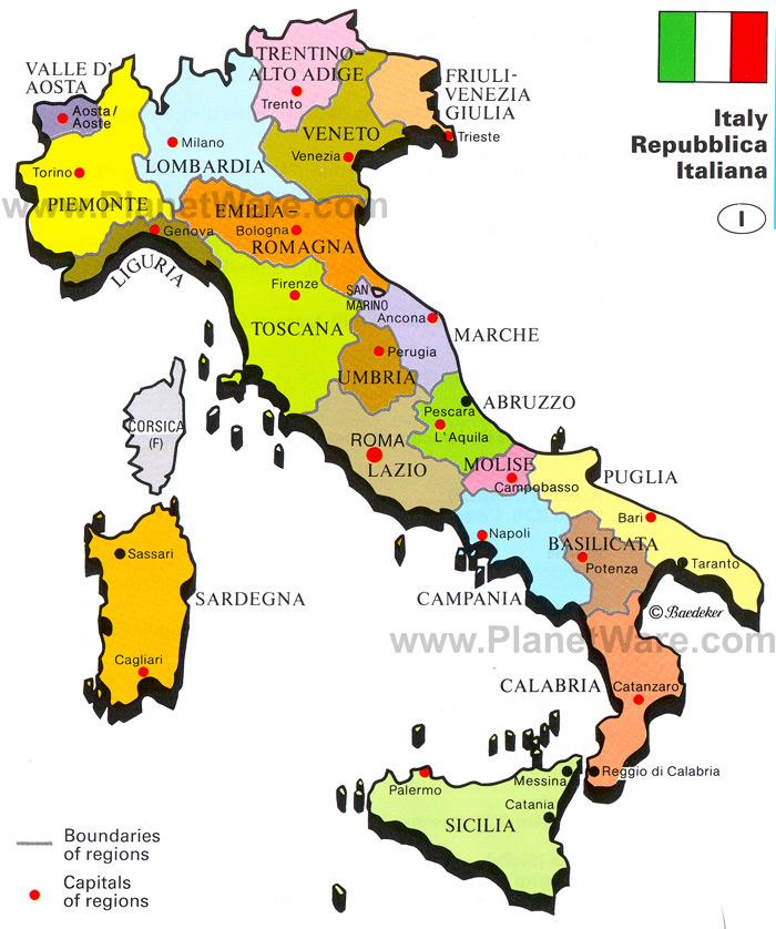 Tuscany Italy Or Tuscana Florence The Heart Of Tuscany - Italy capital map