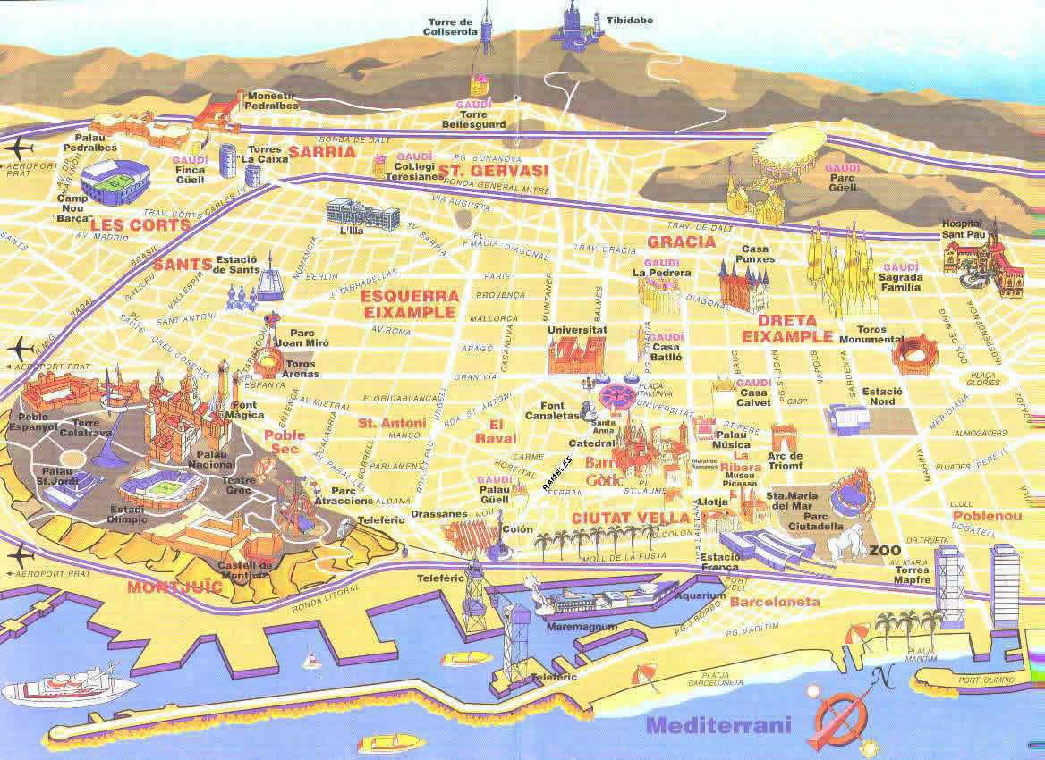 Mapa Turistic De Barcelona