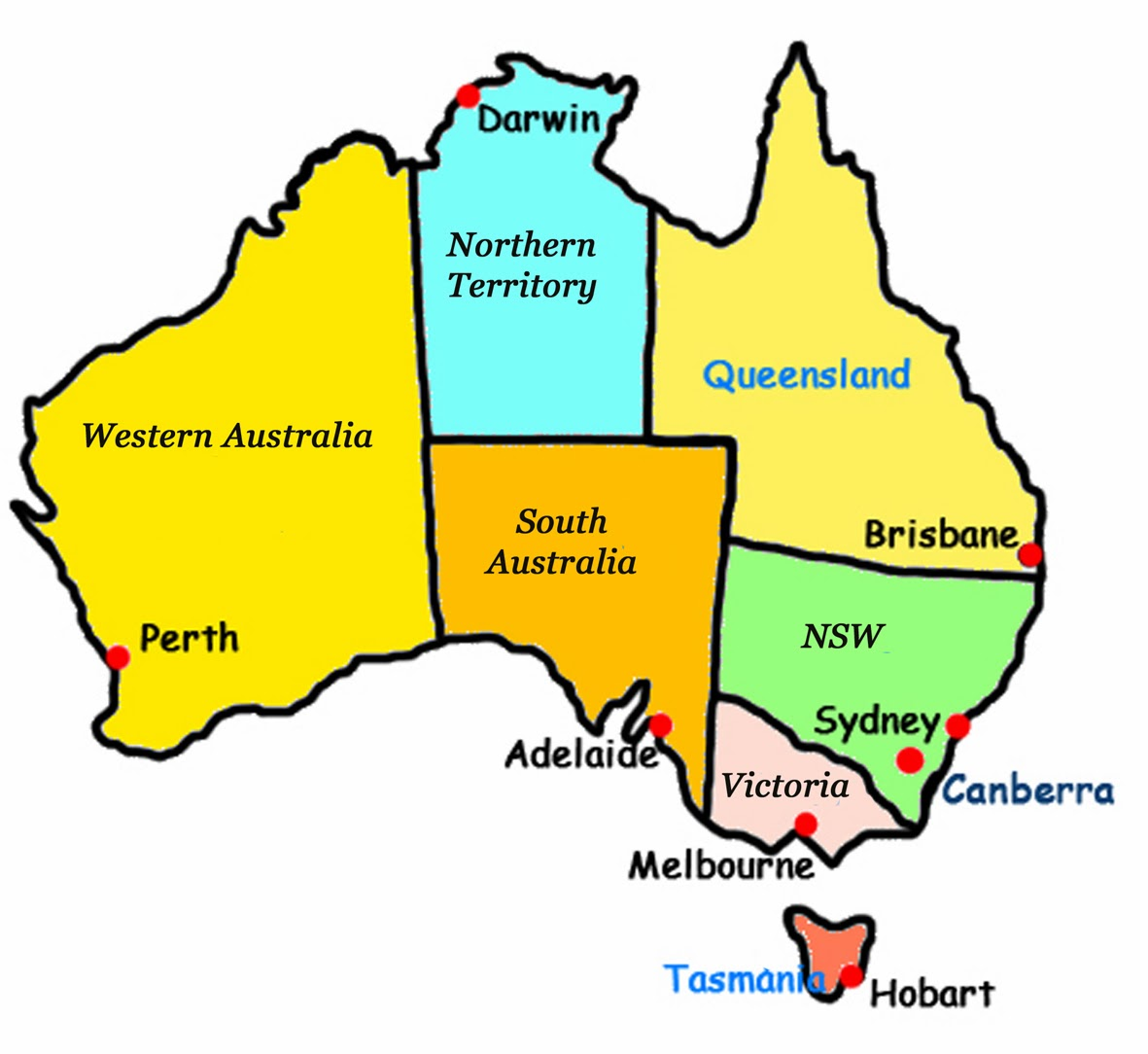 Metal Mined In Australia ThingLink - Map of australia for kids