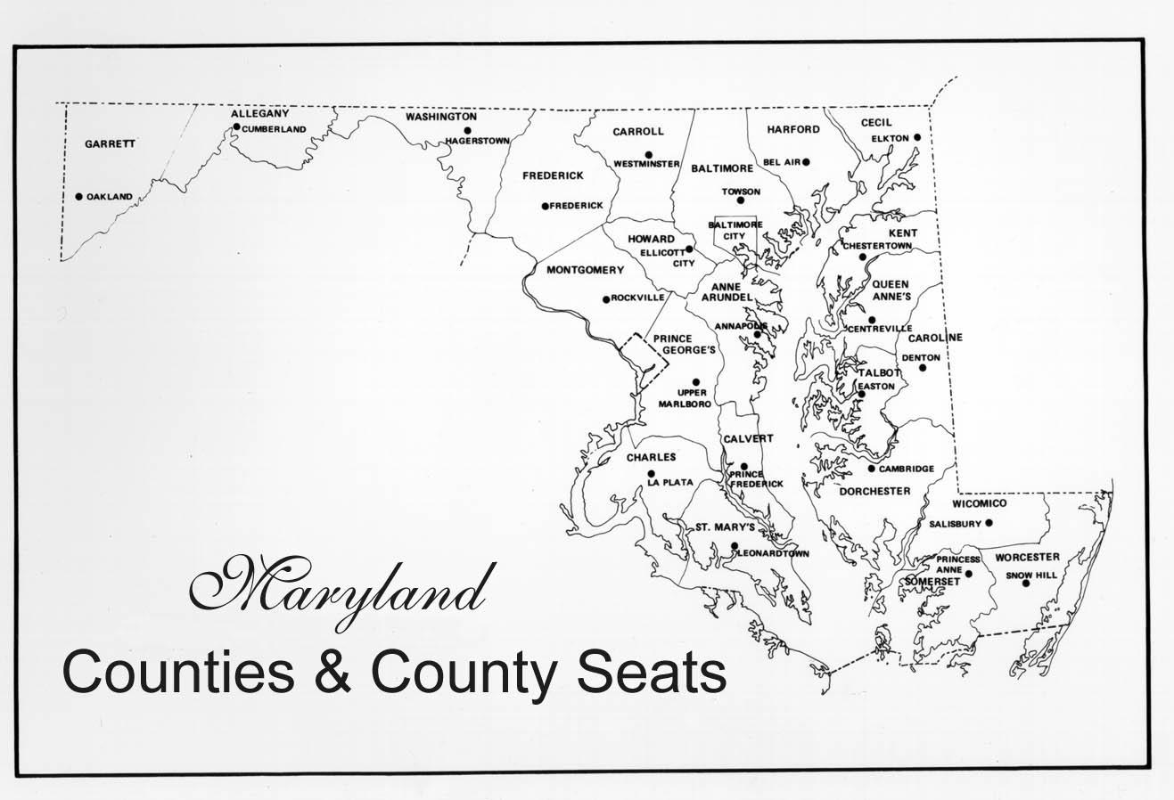 Beautiful Maryland Counties Map Photos - Printable Map - New ...