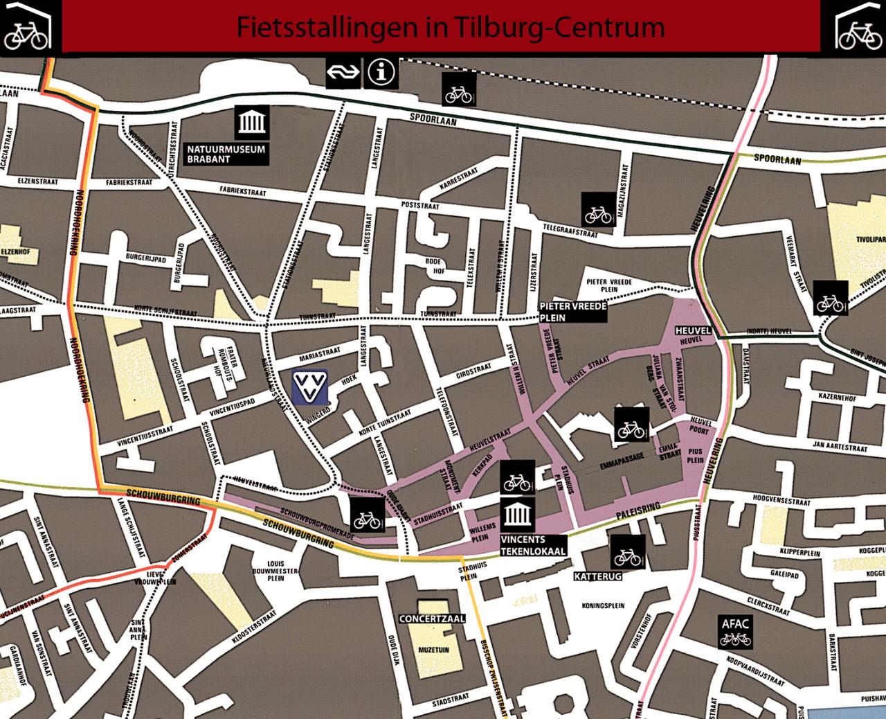 centrum tilburg plattegrond