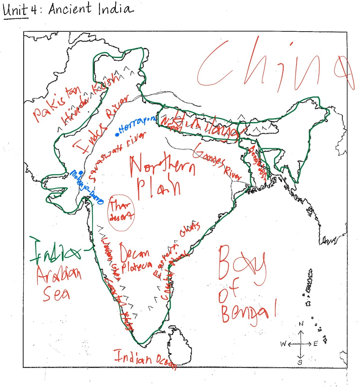 Ancient India Map Ancient India Map (S.S.) Ancient India Map