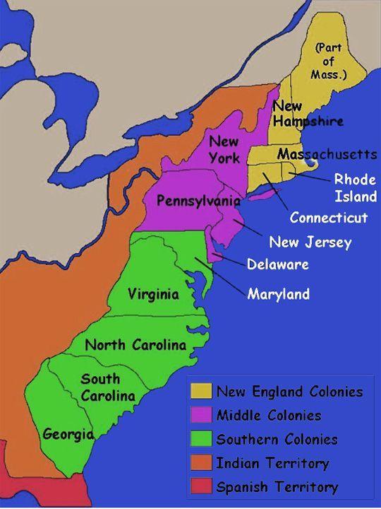 Thirteen Colonies  ThingLink