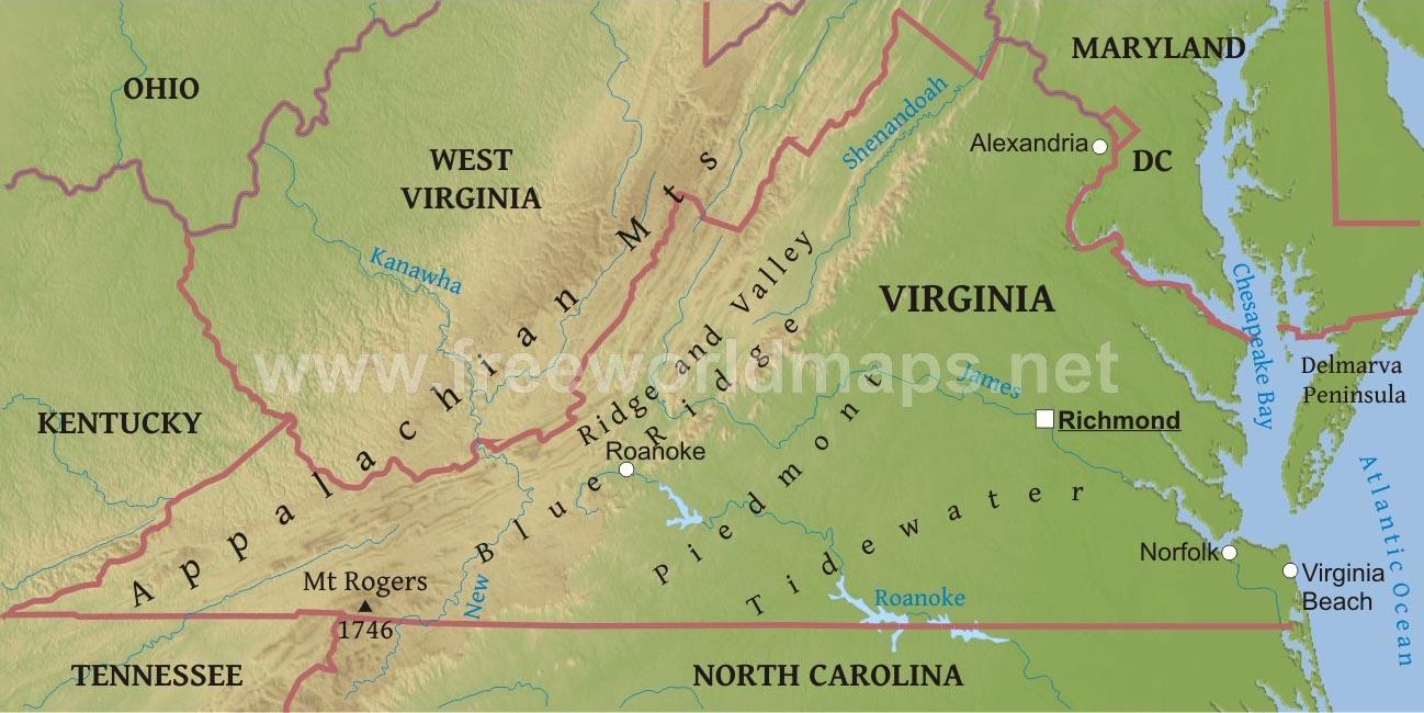 Где на карте находится гора аппалачи 151