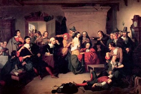 mass hysteria in the crucible