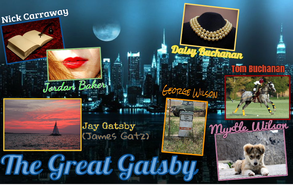Great Gatsby Character Symbol Map