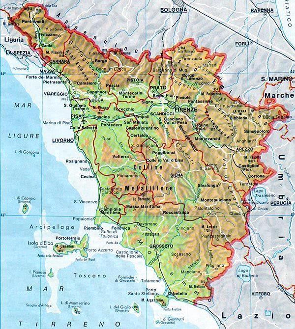 Cartina Interattiva Toscana.Cartina Interattiva Della Toscana