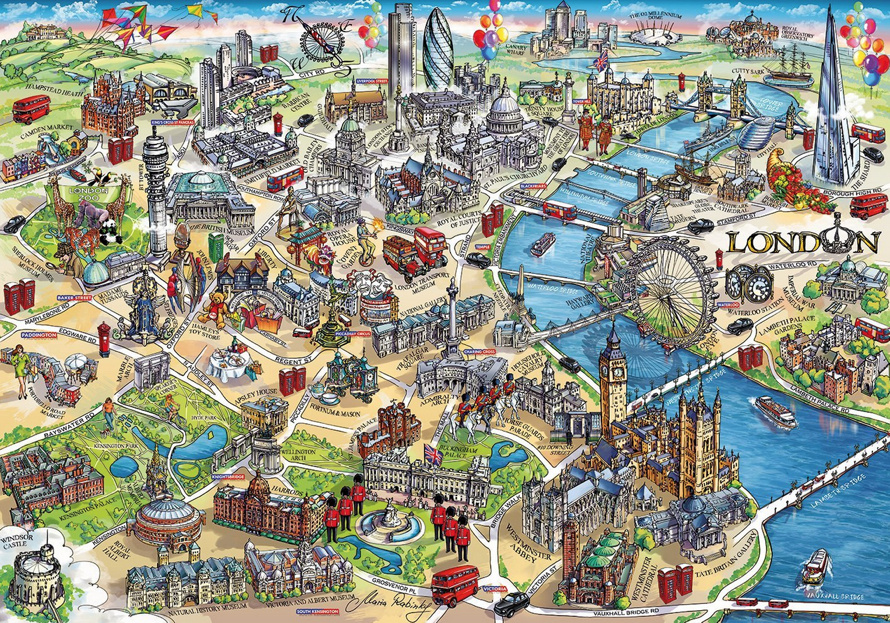 Map Of London With Sights.London S Sights Map