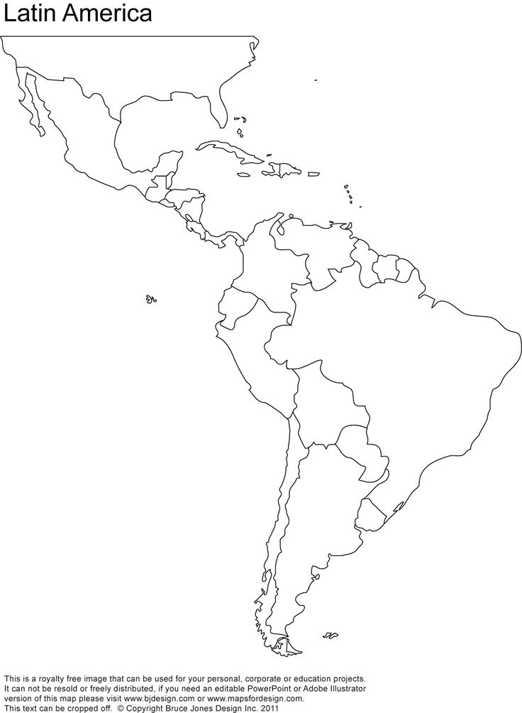 Latin American Map Thinglink: Blank Map Of North America And South America At Usa Maps