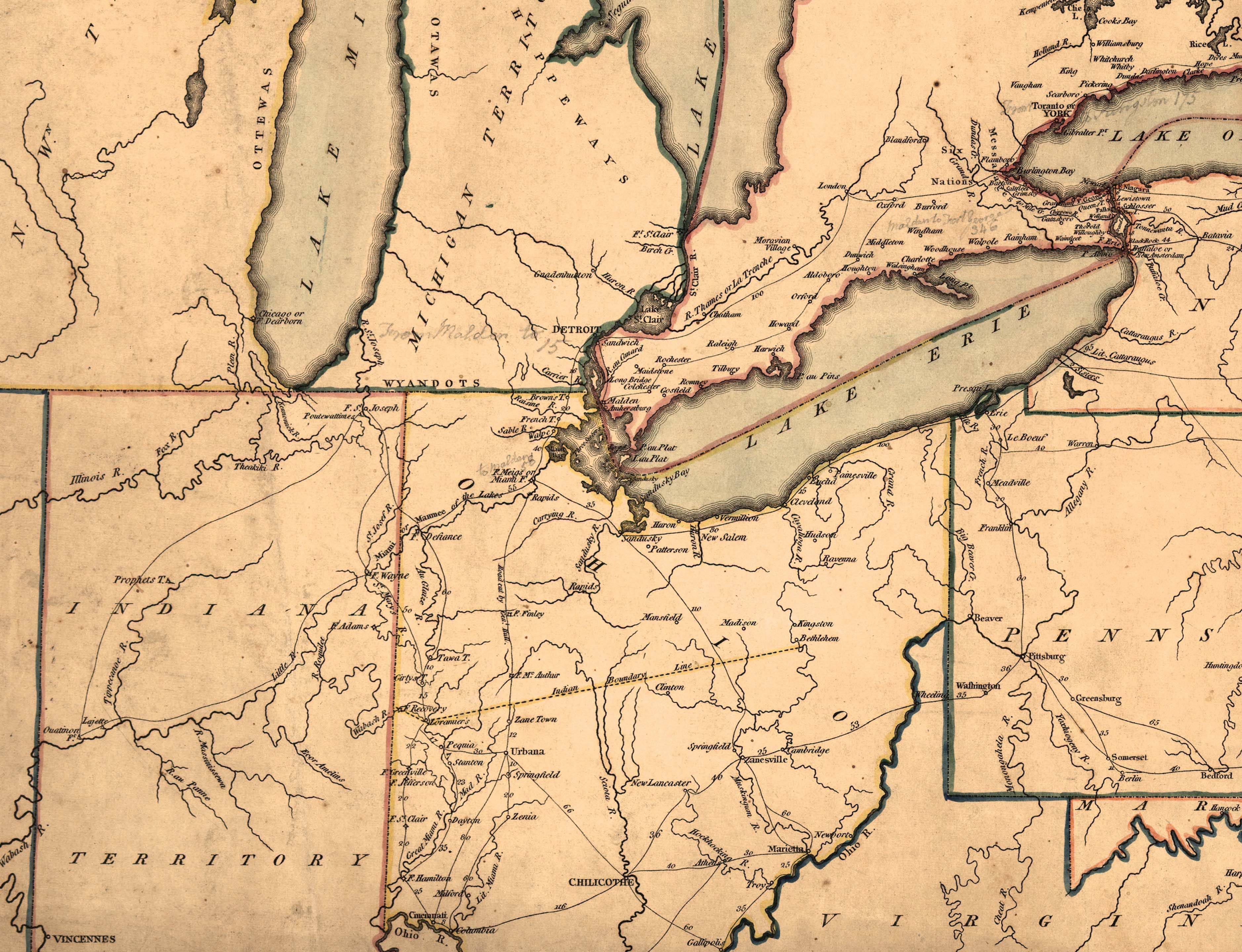 Interactive Map On The War Of ThingLink - Map of us in 1812
