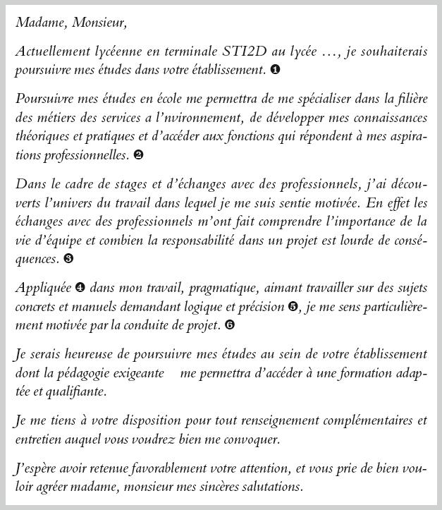 Lettre De Motivation Pour Un Bts Mse Exemple 2