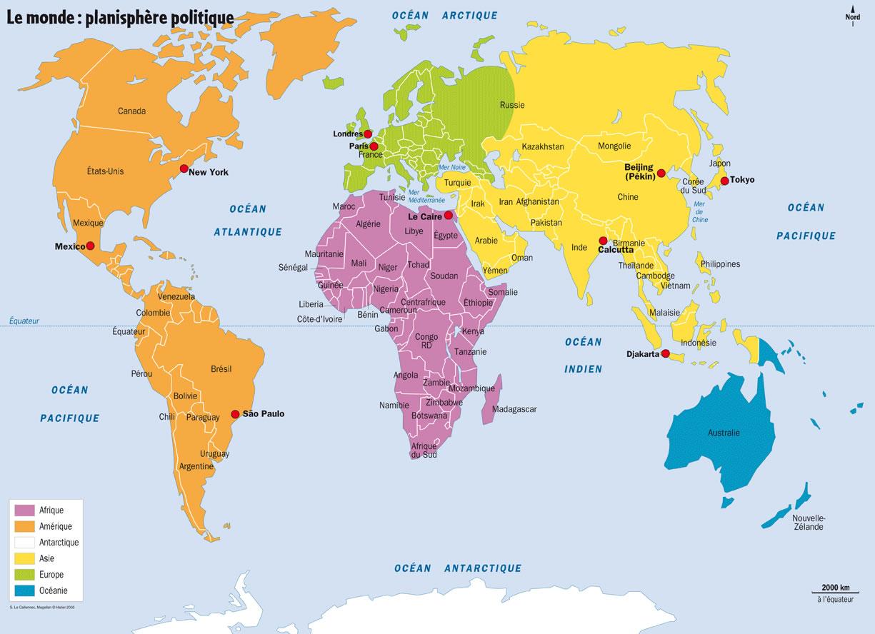 une carte du monde Carte du monde des fêtes