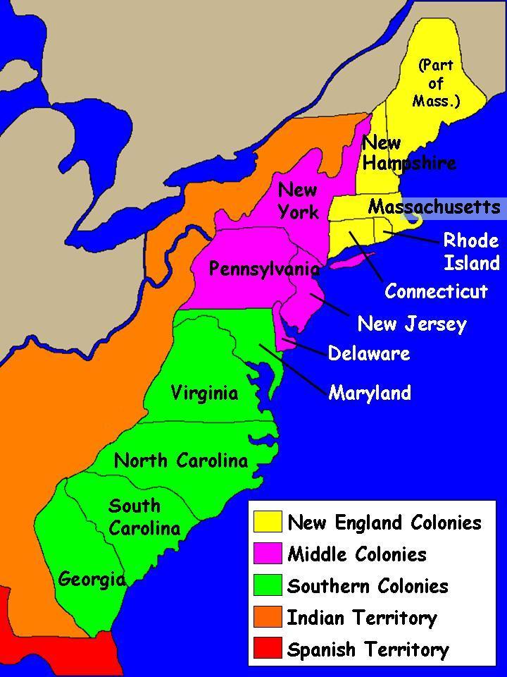 The Thirteen Colonies  ThingLink