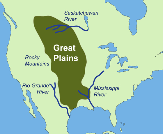 These Are The Great Plains They Consist Of Some Of Texas - The great plains on us map