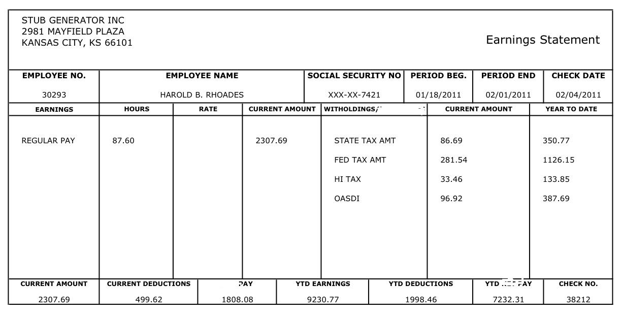 Label the parts of this paycheck., This is the ______... - ThingLink
