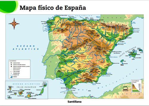 Mapa Rios España Interactivo.Relieve De Espana 1 Mapa Flash Interactivo Enrique
