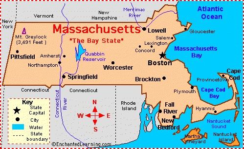Massachusetts revolutionary war map
