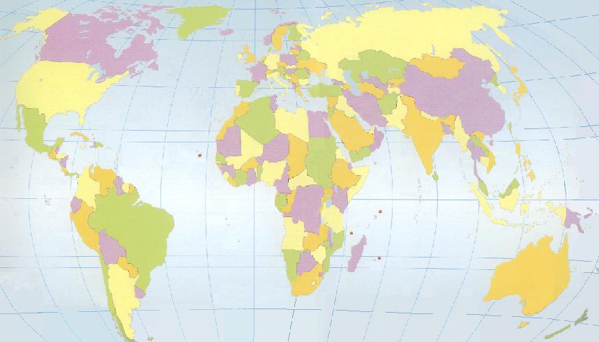 EUROPA AFRIKA ASIA OCEANIA ANTARTIKA AMERIKA OCEANO