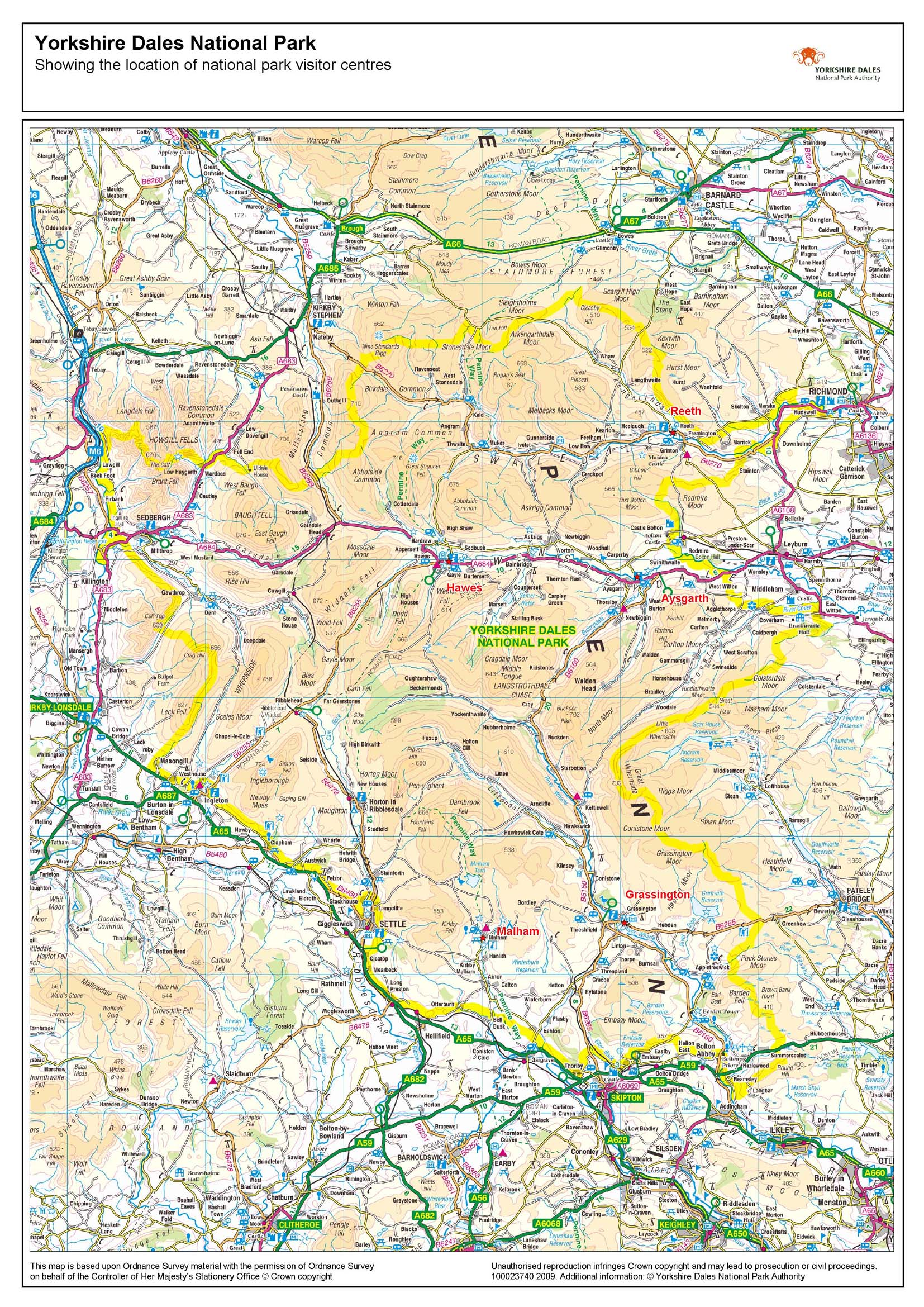 Yorkshire Dales Hotspot Map - ...