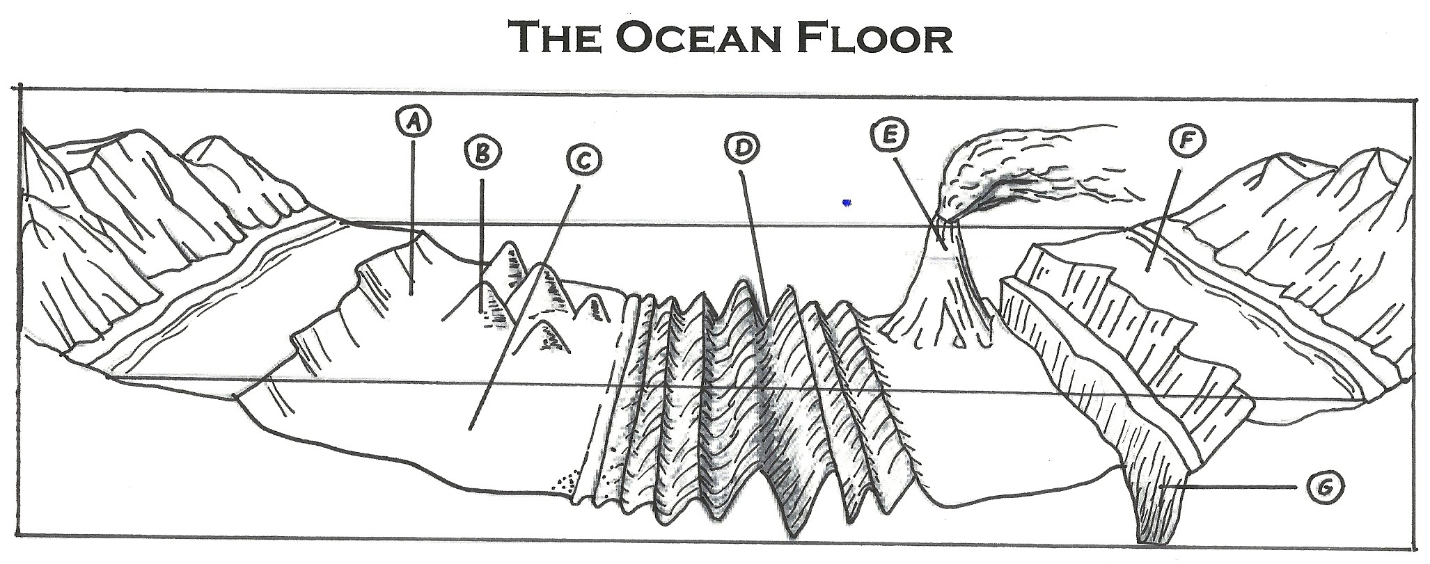 Worksheets Features Of The Ocean Floor Worksheet the ocean floor thinglink