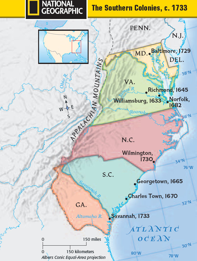compare and contrast northern and southern colonies