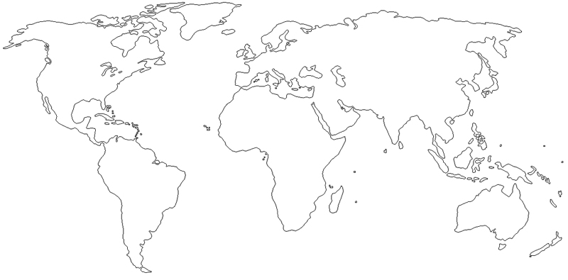 The Philippines Were One Of The Ceded Places To The Uni - Blank world map with scale