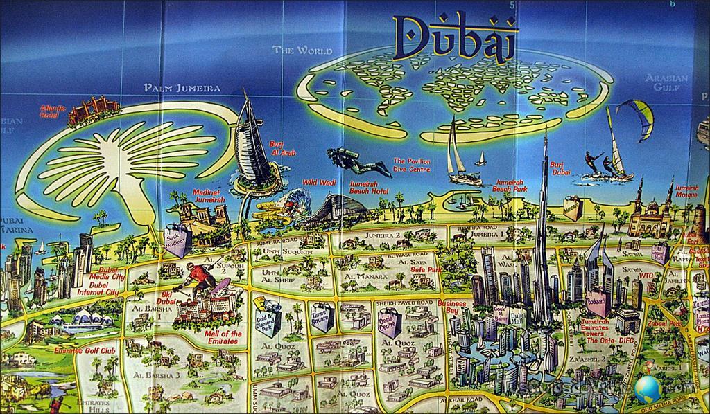 mapa turistico dubai Dubai   ThingLink mapa turistico dubai