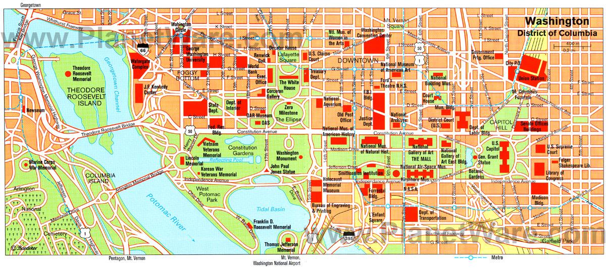 Washington DC Trip ThingLink - Wash map