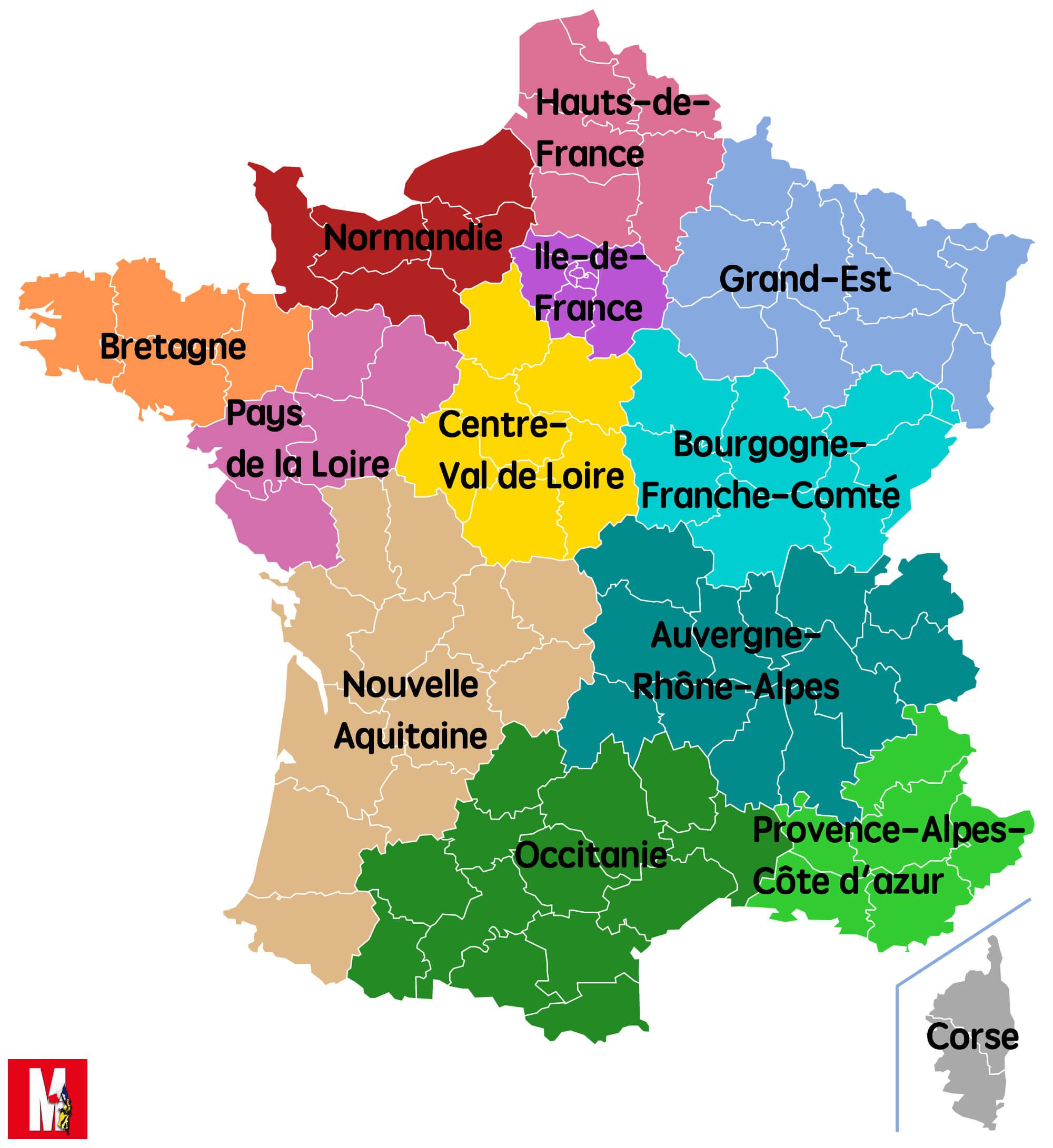 nouvelle carte région france Identité: Produits du terroir et gastronomie française
