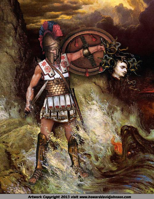 Perseus And Medusa By Howard David Johnson