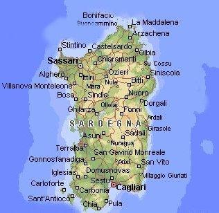 Castelsardo Cartina Sardegna.Sardegna