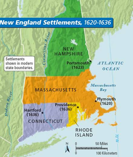 plymouth and massachusetts bay colonies