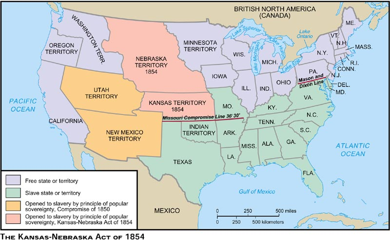 This Is A Map Of Where Bleeding Kansas Took Place Besides Kansas - Us map nebraska state